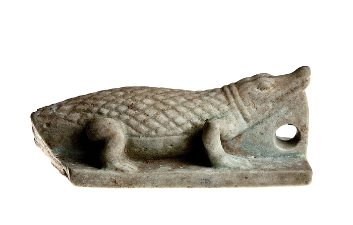 Amulet i form af en krokodille. Ægyptisk, Sentiden - Ptolemæertiden