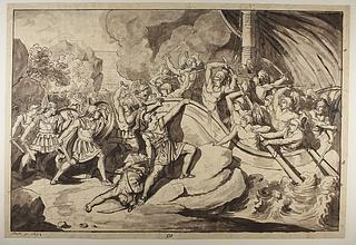 Cynægiros tilbageholder et persisk skib