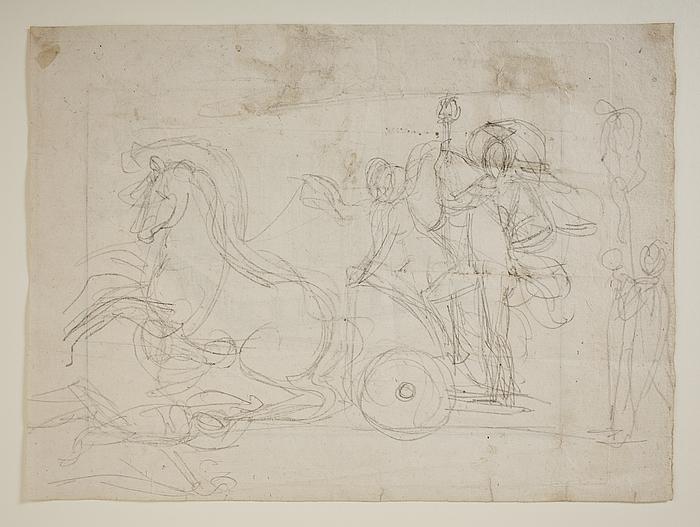 Alexander den Store på triumfvognen til Alexander den Stores indtog i Babylon