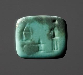 Kvinde med to fakler ved et alter. Hellenistisk-romersk ringsten