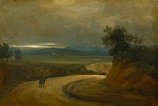 Vejen ved La Storta nord for Rom