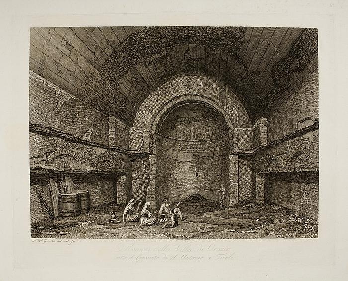 Avanzi della Villa di Orazio  ( Ruinerne af Horats Villa under Sankt Antonio klosteret i Tivoli )