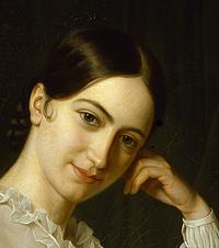 Portræt af skuespillerinden Johanne Luise Heiberg