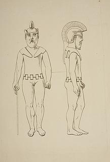 Etruskisk kriger, forfra og i profil