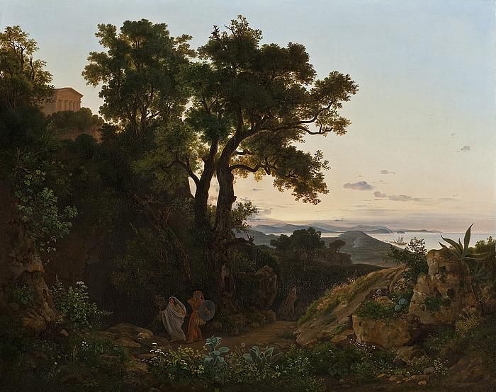 Italiensk landskab med Sibylle og Æneas