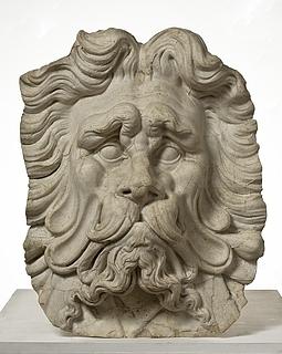 Et skægget hoved, arkitektonisk ornament