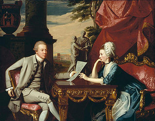 J.S. Copley: 'Mr. and Mrs. Ralph Izard.' Olie på lærred. 175,3x224,7 cm. Museum of Fine Arts, Boston.