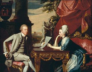 J.S. Copley: 'Mr. and Mrs. Ralph Izard.' Olie på lærred. 175,3x224,7 cm. Museum of Fine Arts, Boston.