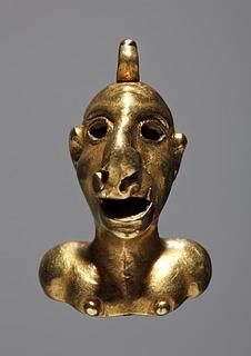 Amuletkapsel i form af en mandsbuste. Romersk