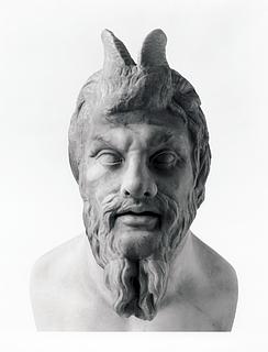 Skulptur af Pan. Romersk
