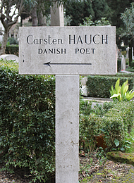 Hauch, gravmæle, Cimitero Acattolico, Rom