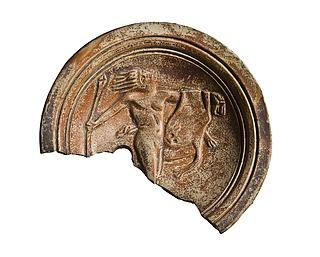 Lampe med en dansende satyr. Romersk