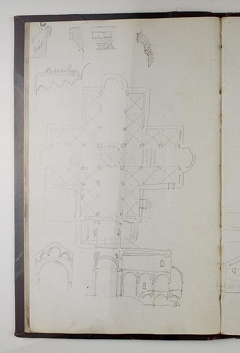 San Criaco-katedralen i Ancona, grundplan, snit og detaljer