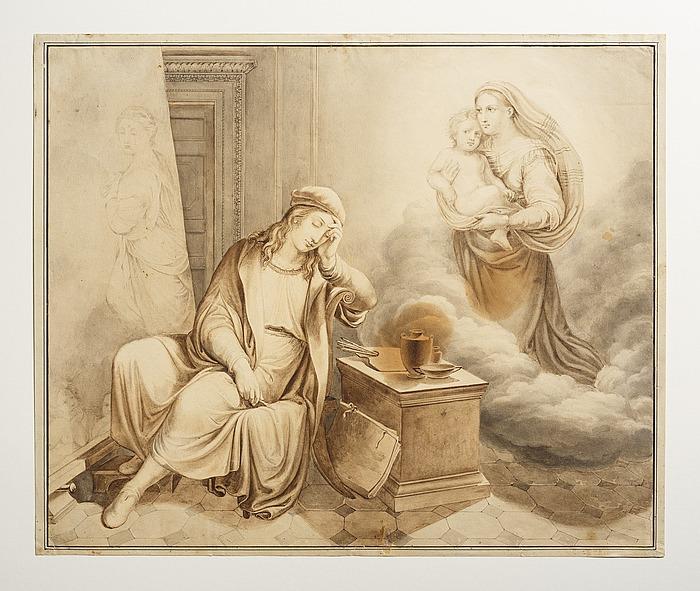 Rafael ser Maria med barnet i drømme
