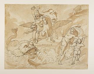 Perseus på Pegasus redder Andromeda