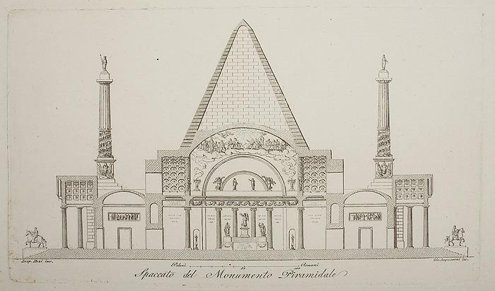 Monumento Piramidale, snit