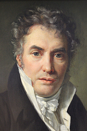 F.J. Navez: Portræt af J.L. David, 1817, detalje