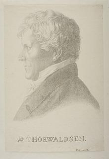 Portræt af Thorvaldsen med ørering