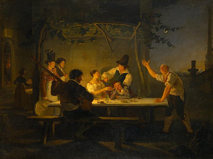 Romersk osteri ved Trinità dei Monti, værten som improvisator