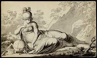 Minerva som kundskabens og kunstens beskytter