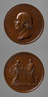 Medalje forside: Lægen Christopher Knape. Medalje bagside: Æskulap og Retfærdigheden