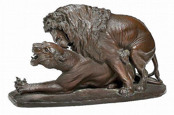Carl Bonnesen: To løver