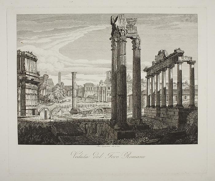 Veduta del Foro Romano ( Prospekt fra Forum Romanum )