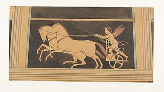 Amorin på vogn med heste der sætter af