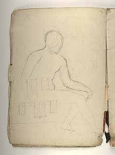 Siddende model. Arkitektur (?)