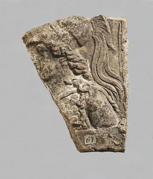 Campanarelief med buste af Minerva. Romersk