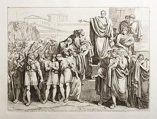 Bruto condanna li suoi due Figli Tito, e Tiberio a morte, come complici di congiura per ristabilire li Tarquinj sul Trono (Brutus dømmer sine to sønner Tito og Tiberus til døden)