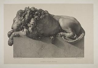 Sovende løve fra Monument over Clemens 13.