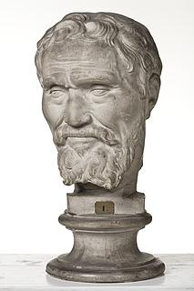 Hovedet af Michelangelo Buonarotti