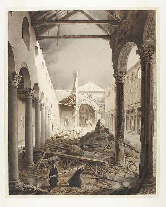San Paolo fuori le mura, efter branden 1823