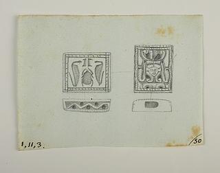Slangeprydet hoved med paryk. Hieroglyf-signet