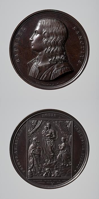Medalje forside: Rafael. Medalje bagside: Sixtinske Madonna