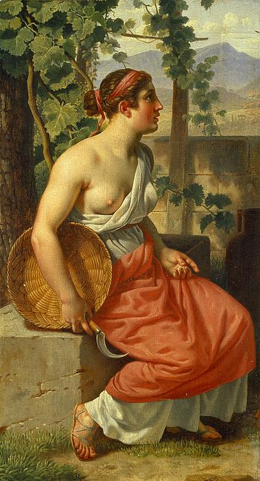En høstpige i antik dragt
