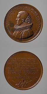 Medalje forside: Heinrich Julius Willerding. Medalje bagside: Kristendommens insignier