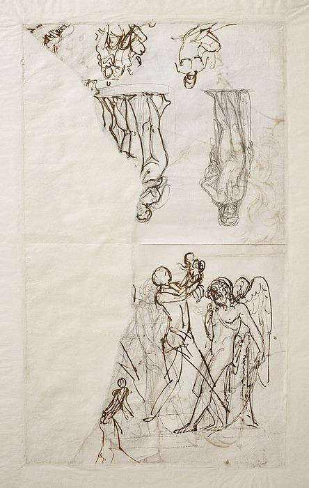 Amor betragter spidsen af sin pil. Hektor og Astyanax. Omfale. De tre gratier. Bacchus og Amor (?)