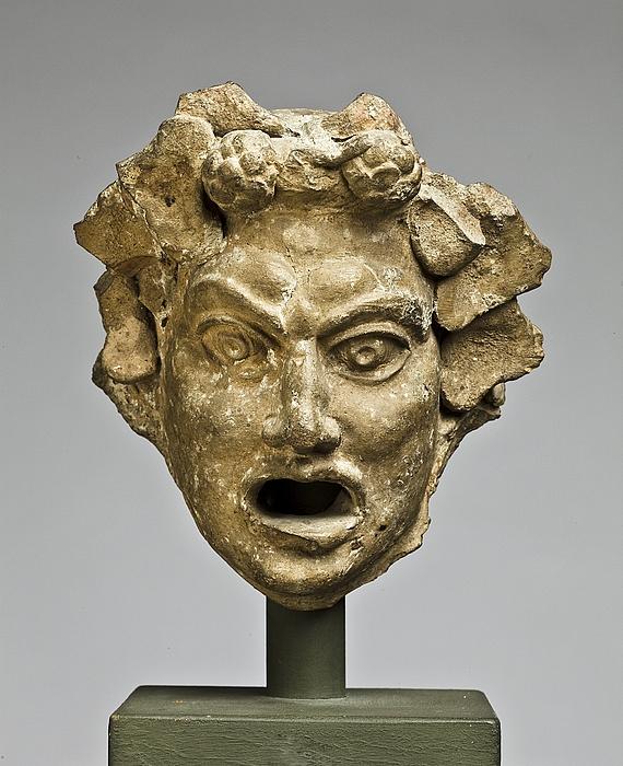 Spygat i form af en teatermaske. Romersk