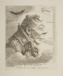 """""""Der grose Baer"""", karikatur af den russiske greve Mattweff (muligvis maleren Fyodor Matveyev)"""