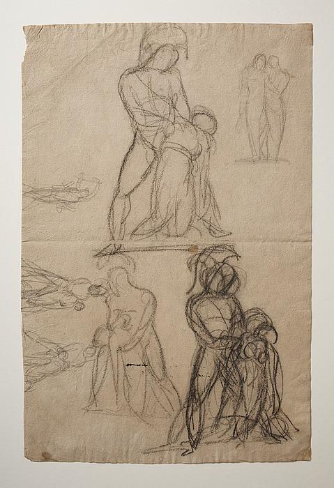 Achilleus og Penthesilea. Herkules og Hebe. Apollon drager sløret fra den efesiske Diana