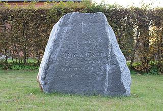 NN: Peder Hjort, gravsten, kirkegården ved Sorø Klosterkirke