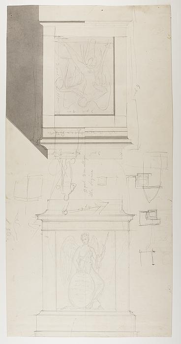 Sokkel til monumentet over grev Wlodzimierz Potocki med relifferne Victoria og Dødens genius