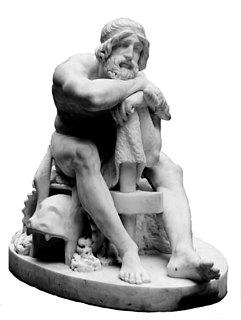 H.E. Freund: Thor, 1828-29, marmor, 71 cm, Statens Museum for Kunst