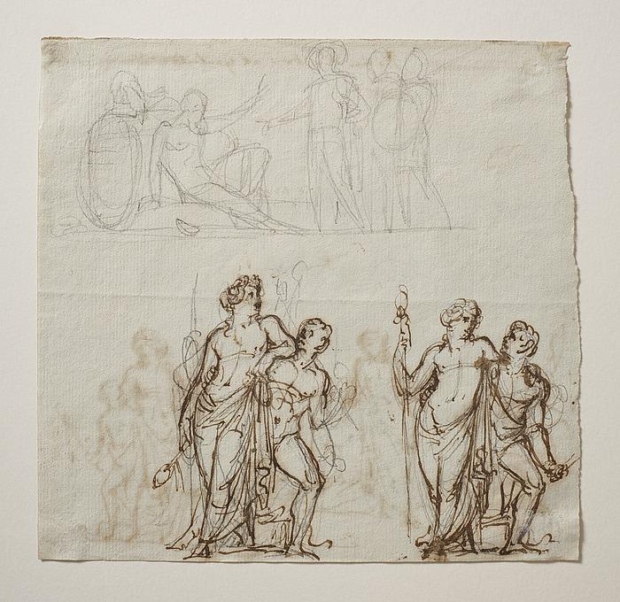 Alexander og Diogenes. Bacchus og satyr