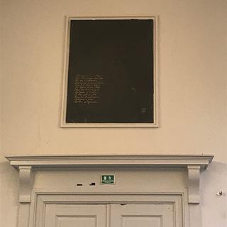 Thorvaldsens skifersten, Charlottenborg, Kunstakademiet, København