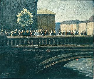 Robert Risager: Efter koncert i Christiansborg Slotskirke, 1945