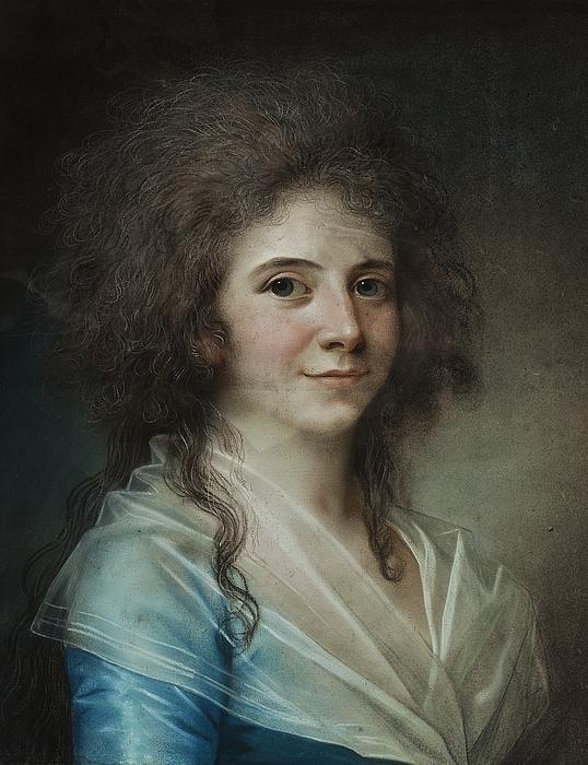 Portræt af hofdame frøken Wilhelmine Bertouch