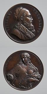 Medalje forside: Titian. Medalje bagside: Flora